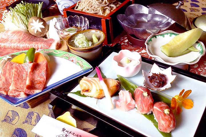 前沢牛的各種套餐(¥4320)